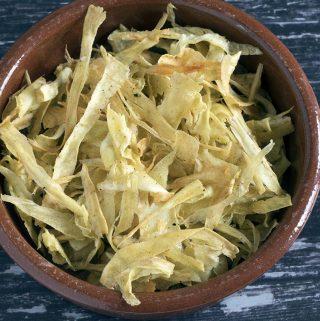 cumin spiced parsnip crisps recipe by Sneaky Veg