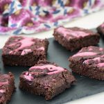 vegan chocolate beetroot brownie. Recipe by Sneaky veg