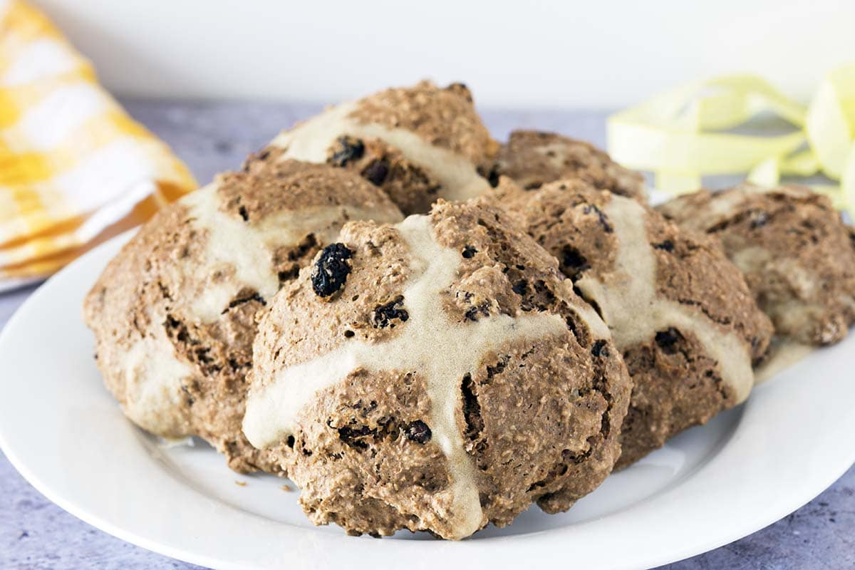 spiced soda bread rolls hot cross buns recipe by Sneaky Veg