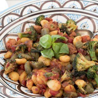 gnocchi recipe with broccoli and veggie sausages