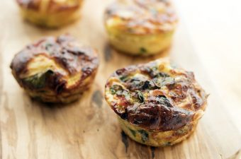 mini frittata in muffin tin shapes by Sneaky Veg