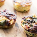 mini frittata with red pepper, potato and spinach