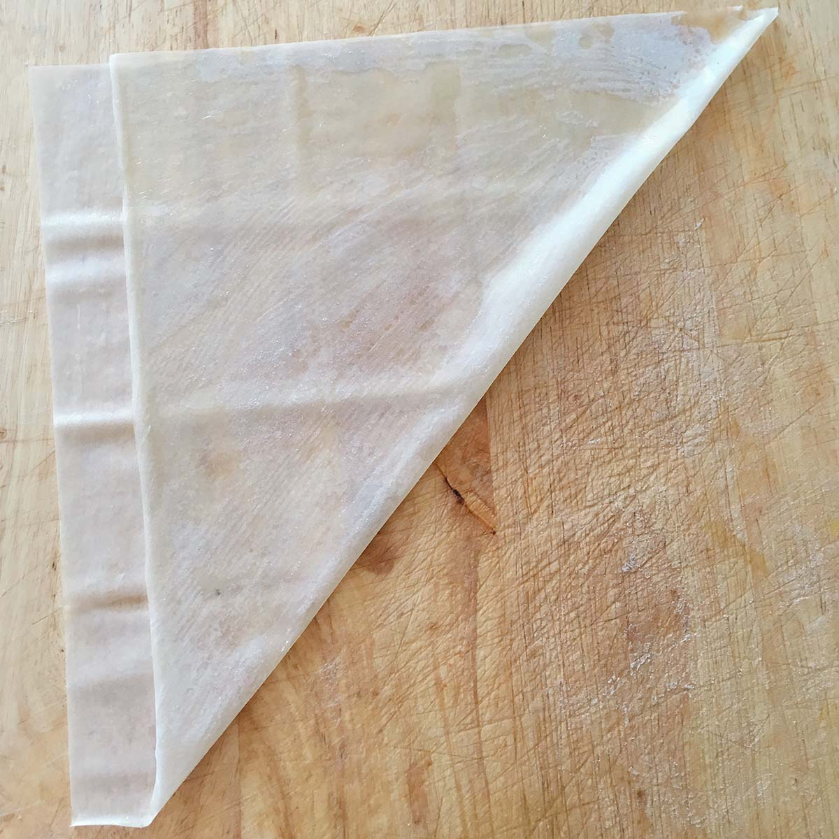 how to fold samosa - step two