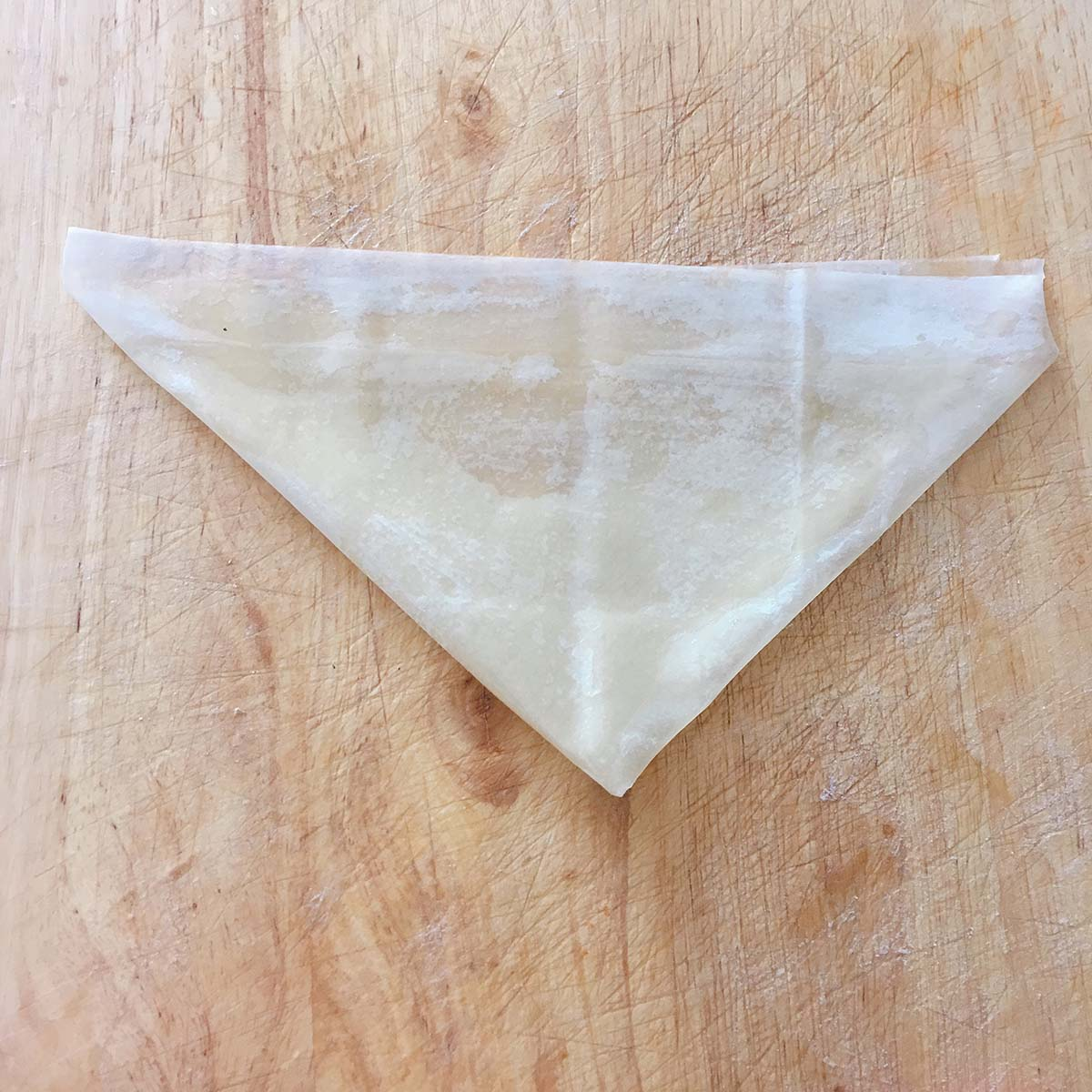 how to fold samosa - step three