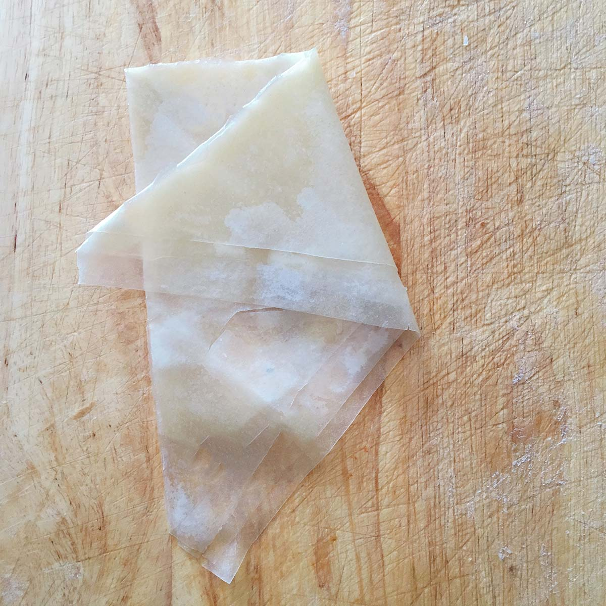 how to fold samosa - step four