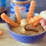 Skippy peanut butter with carrot sticks