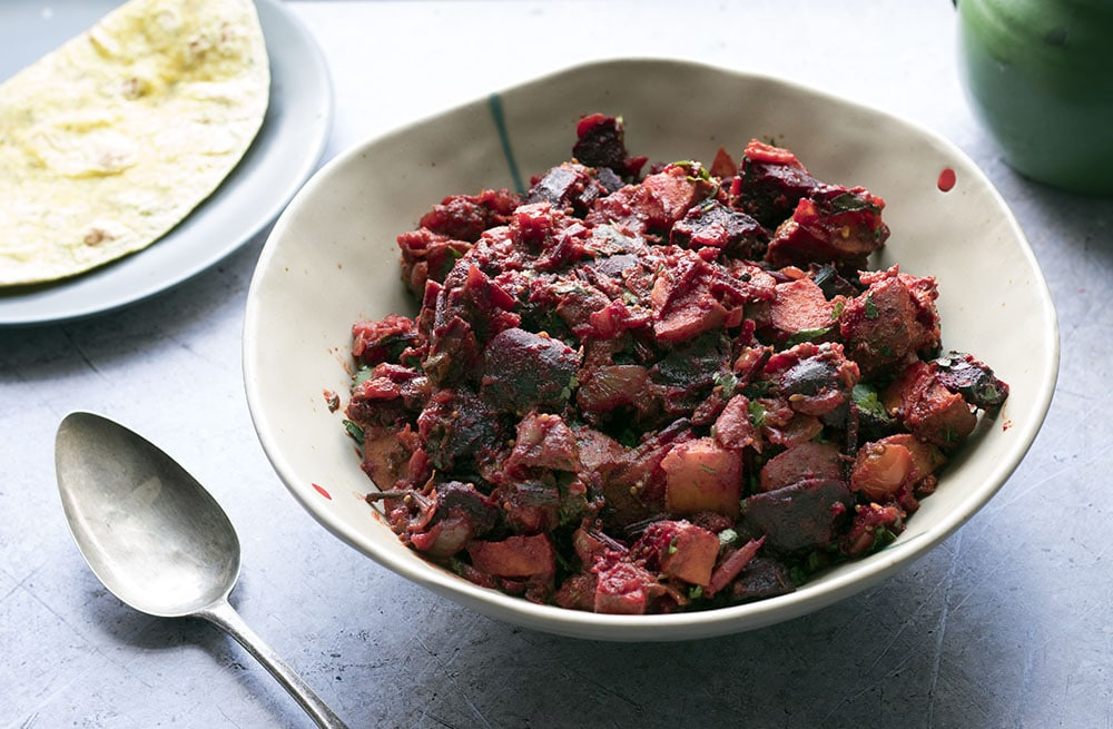 sweet potato beetroot curry