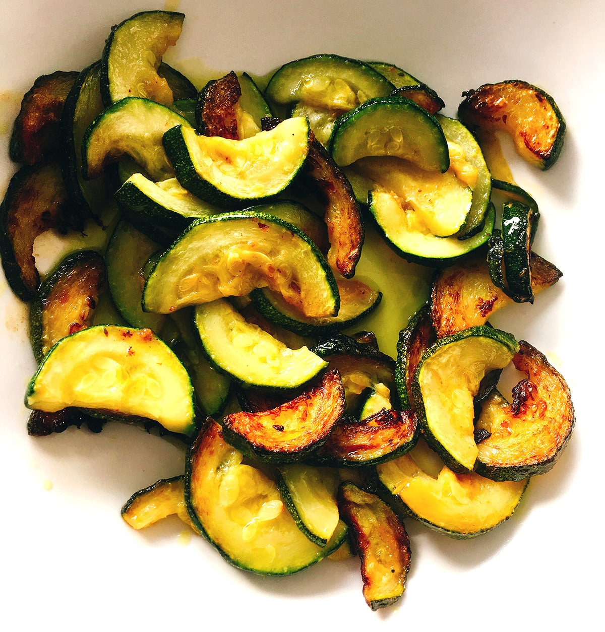sauteed courgettes