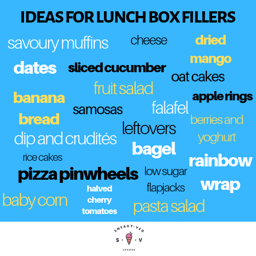 quick ideas for healthy lunchbox fillers by Sneaky Veg