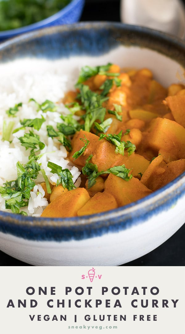 one pot potato and chickpea curry recipe