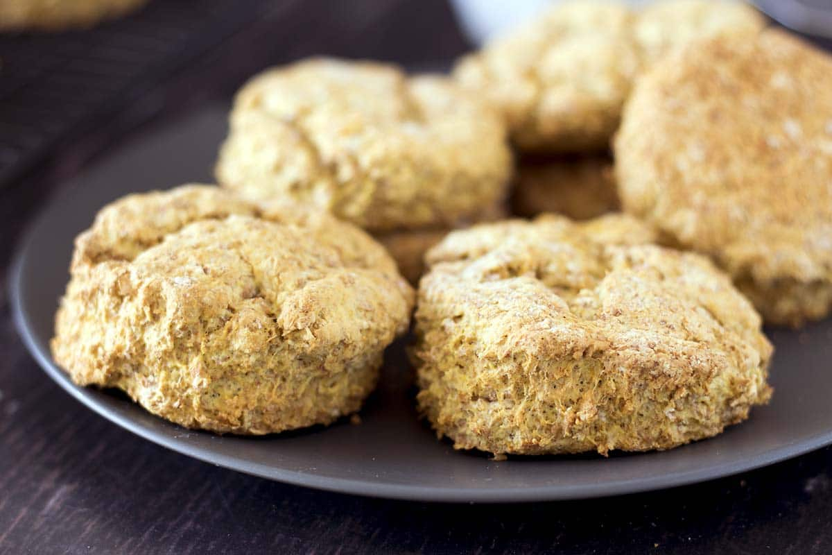 vegan pumpkin scones on plate