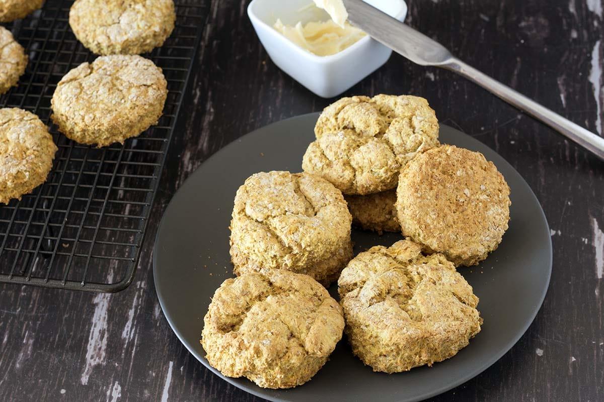 healthy vegan pumpkin scones