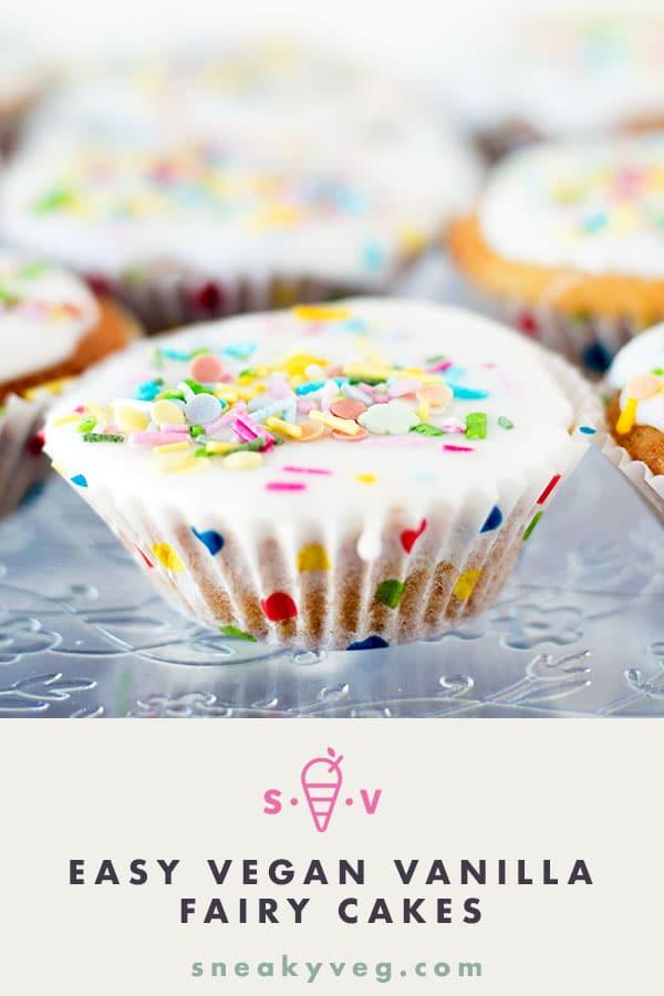 easy vegan vanilla fairy cakes