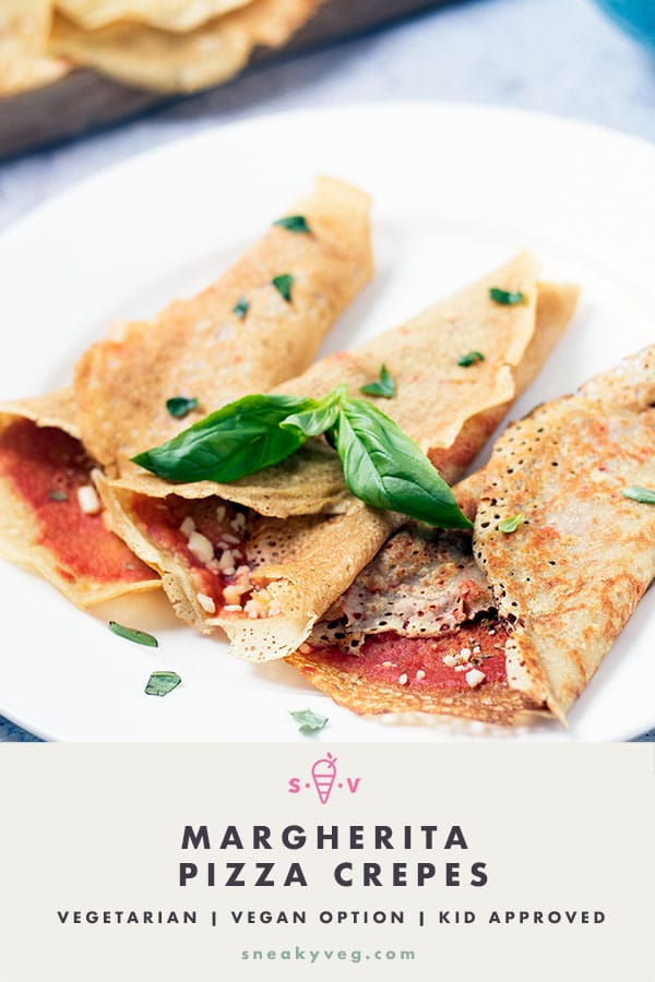 pizza crepes on white plate