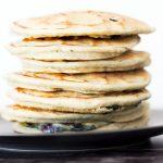 stack of vegan eggless pancakes