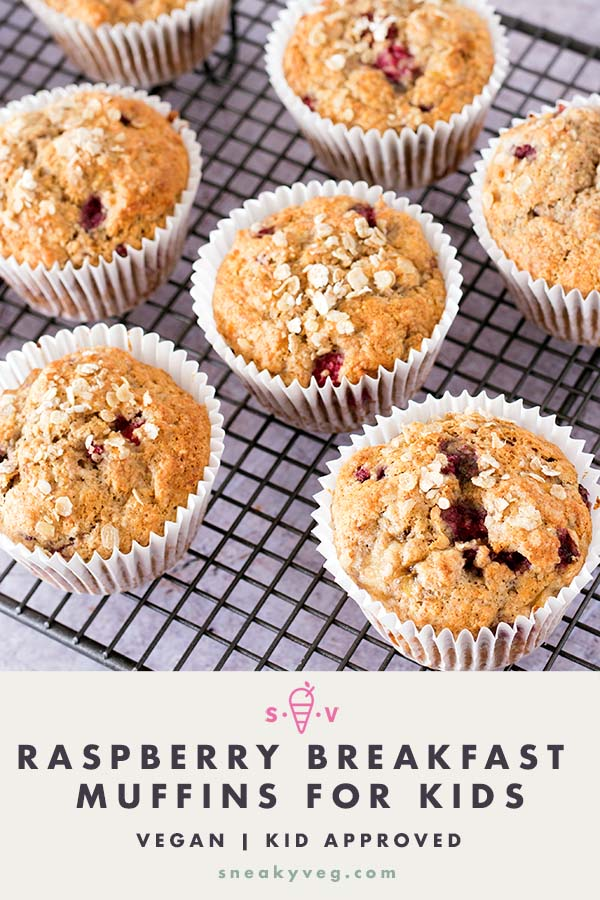 RASPBERRY BREAKFAST MUFFINS for kids ON COOLING RACK