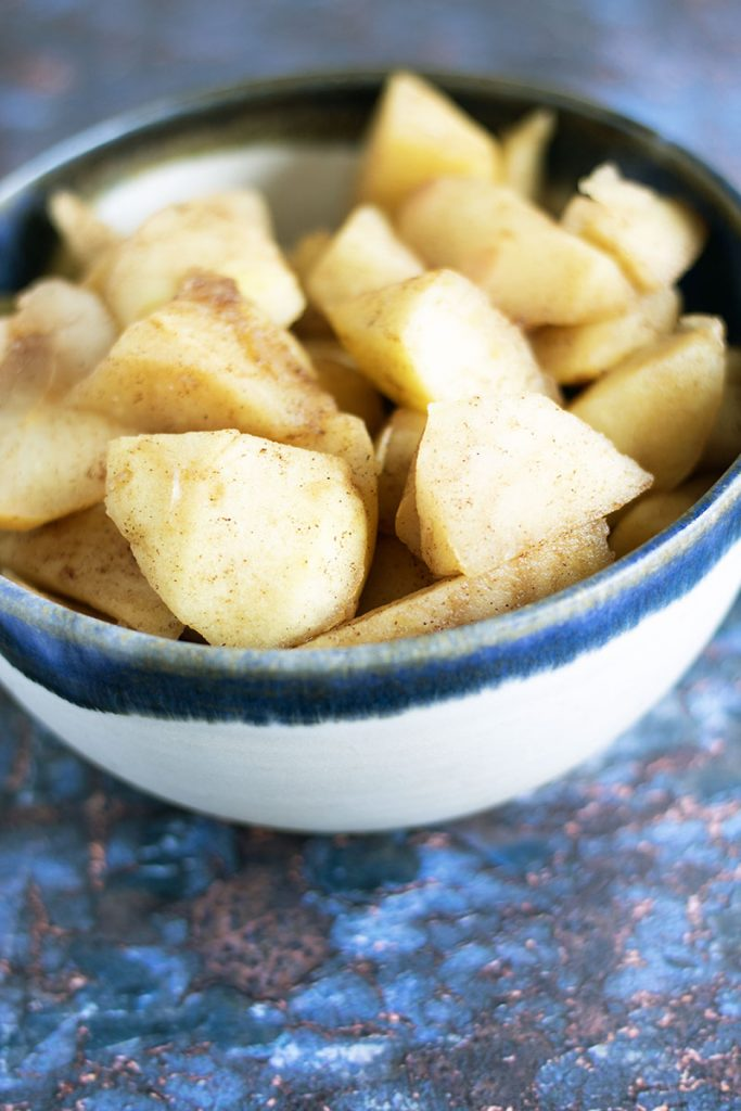 apple and cinnamon compote in bowl