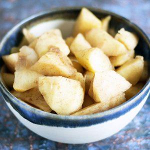 stewed apple in bowl