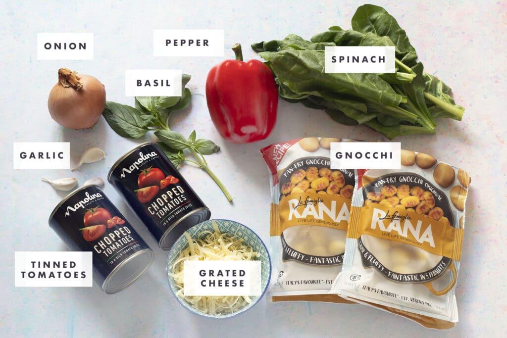 ingredients for baked gnocchi