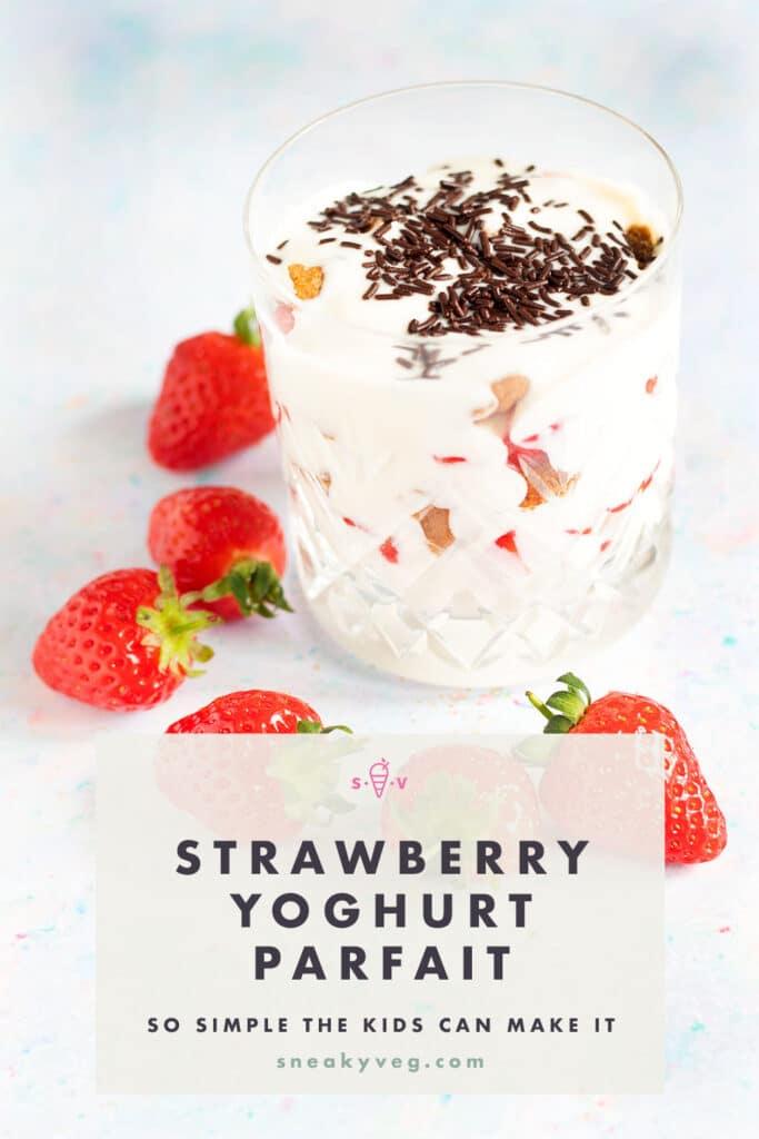 strawberry yoghurt parfait in glass