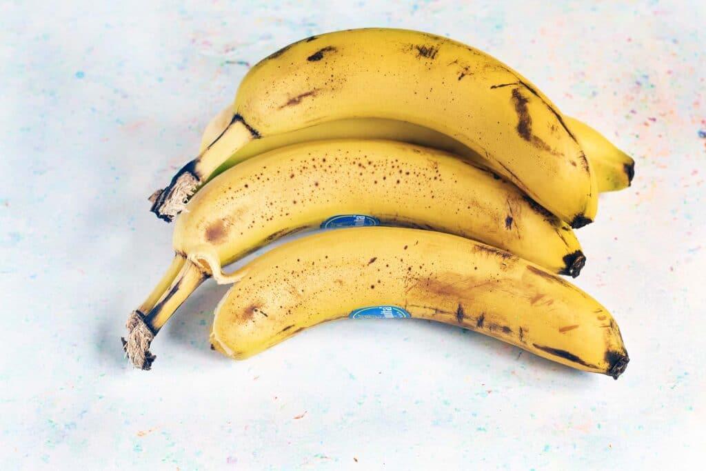 four ripe bananas